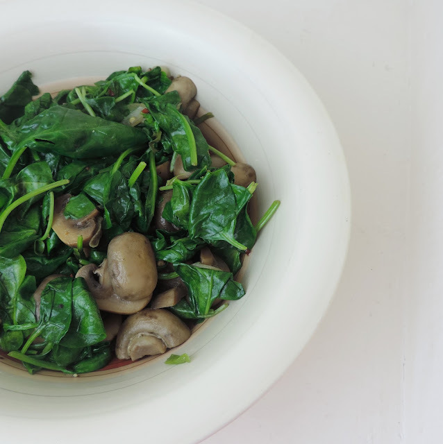 Sauteed Mushrooms and Spinach