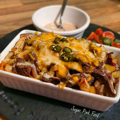 Slimming World Recipe:- Philly Cheesesteak Fries