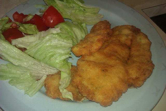 Filetes de pollo empanados