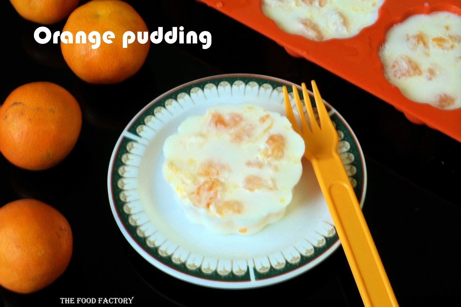 Orange pudding