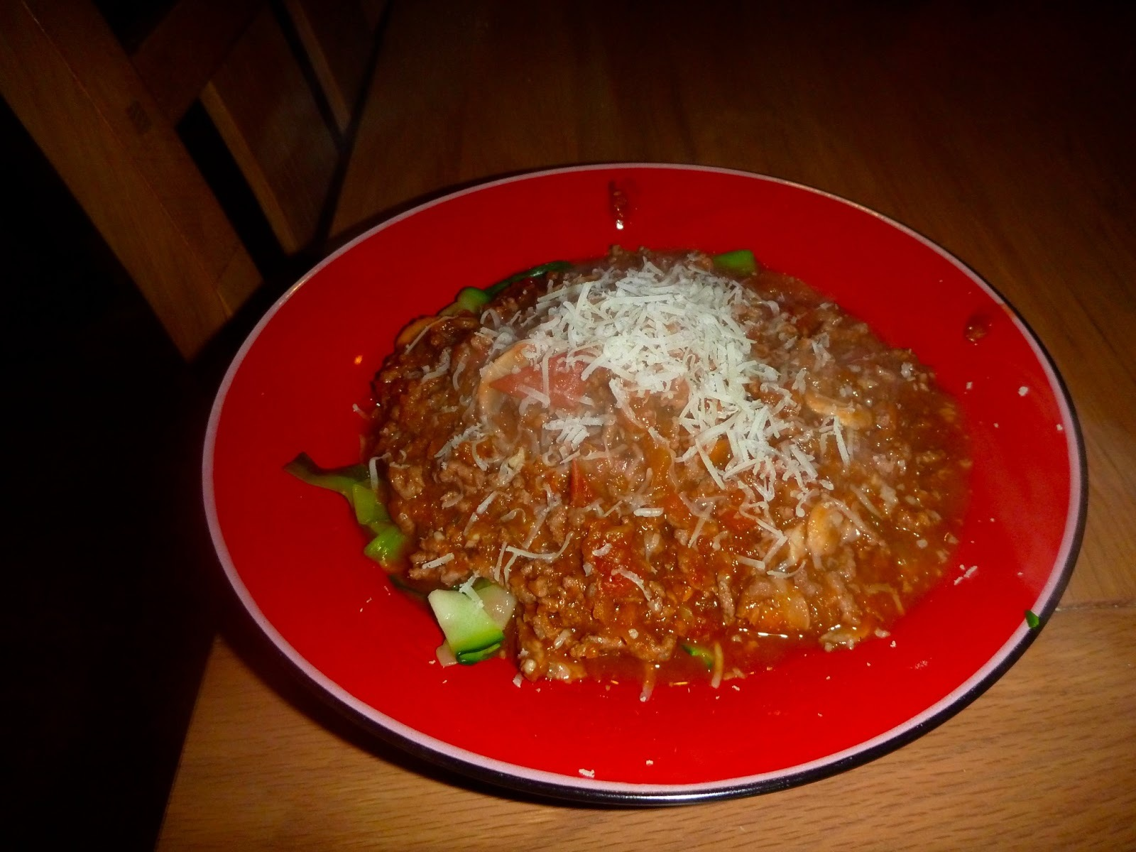 Bolognese with Courgette Spaghetti