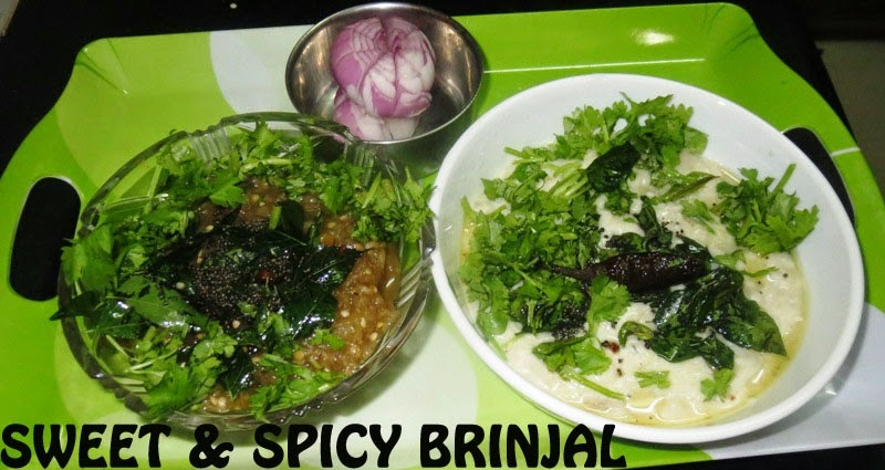 Sweet & Spicy Brinjal