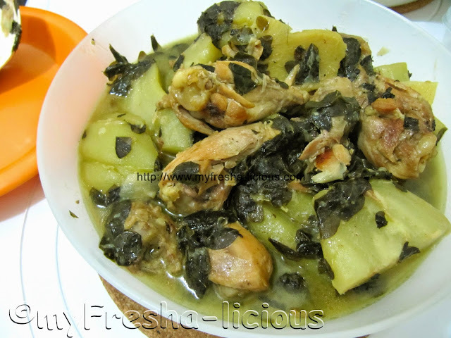 ChickenTinola with Sayote and Malunggay leaves
