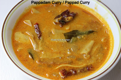 Pappadam Curry / Pappad Curry