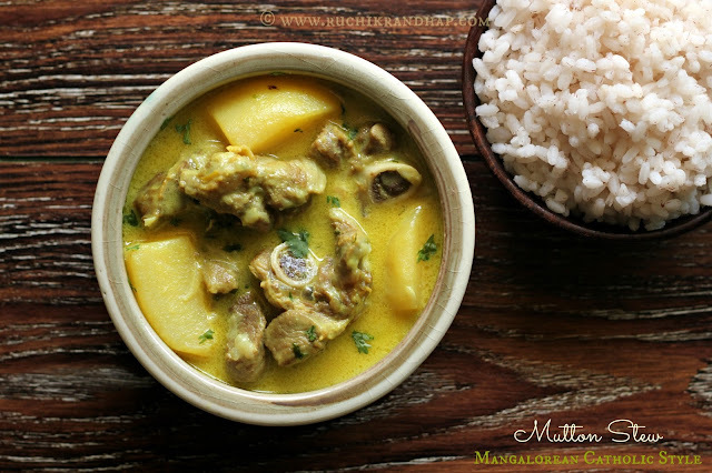 Mutton Stew ~ Mangalorean Catholic Style Coconut Milk Based Curry