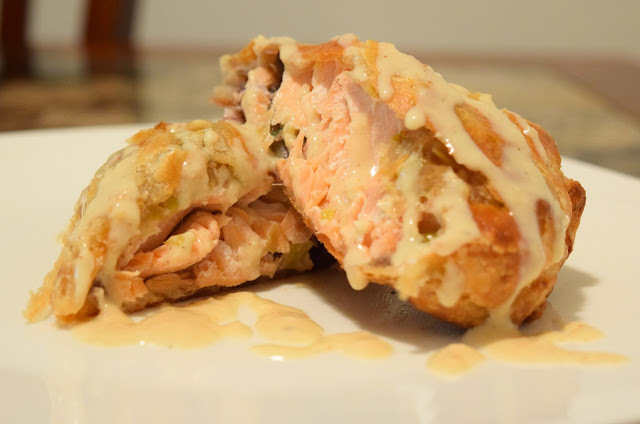 Impressive Holiday Recipes: Salmon En Croute w/ Mustard Beurre Blanc