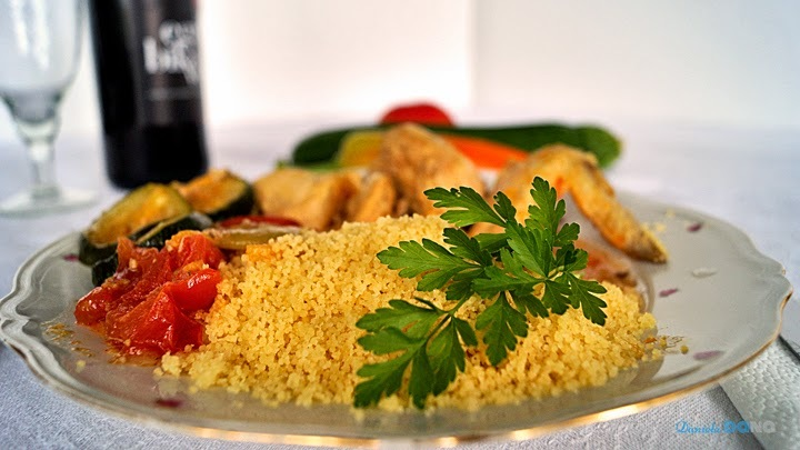 Chicken with couscous and vegetable/ Kurča s kuskusom a zeleninou