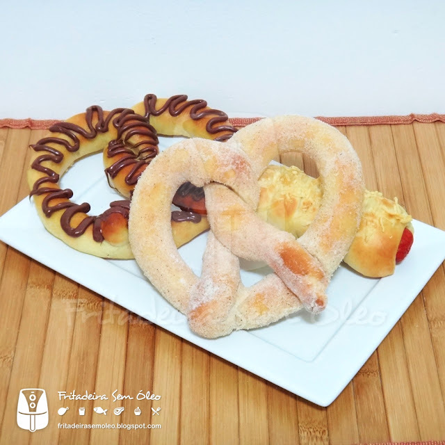 Pretzel na AirFryer (Igual ao do Shopping)