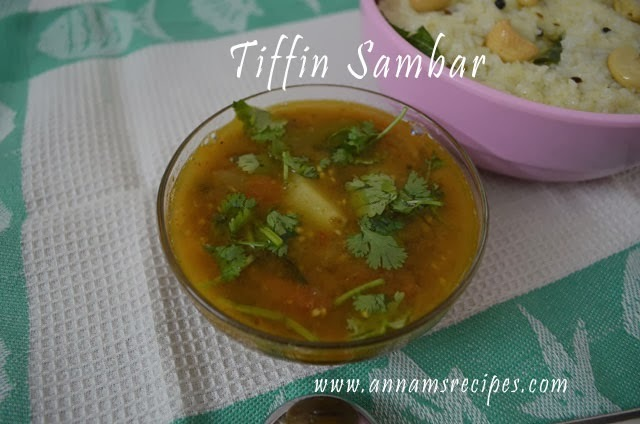 Chettinad Tiffin Sambar
