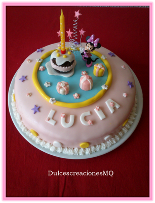 "Pastel  de Chocolate y Frambuesa ""Minnie"""