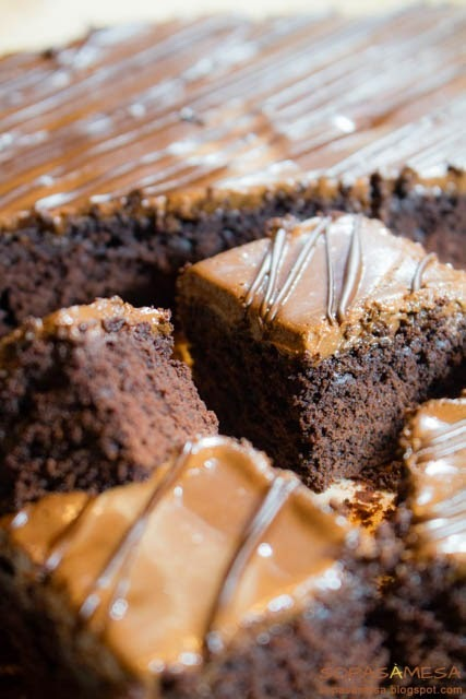 Brownies de chocolate com... mousse de chocolate!