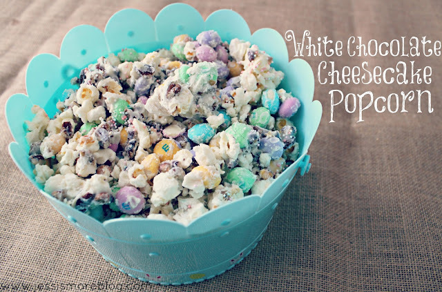 Saw It :: Pinned It :: Did It {white chocolate cheesecake popcorn}