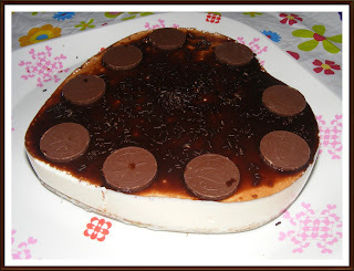 TARTA FRIA DE YOGURT Y CHOCOLATE