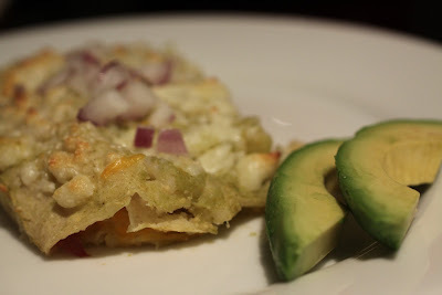 Enchiladas Verde with Cheese and Onion