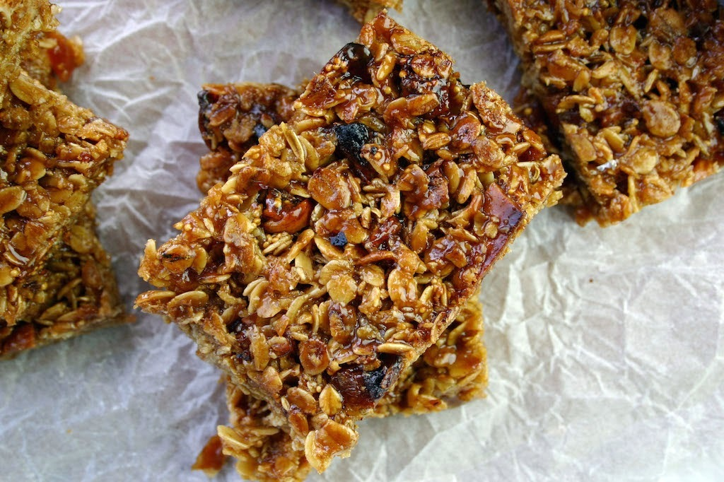 dried apricot, fig and fennel seed flapjacks