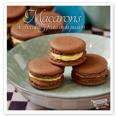 MACARONS DE CHOCOLATE Y FRUTA DE LA PASIÓN / CHOCOLATE AND PASSIONFRUIT MACARONS