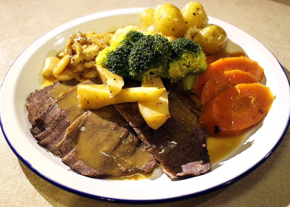 Pot Roast Silverside of Beef with Root Veg