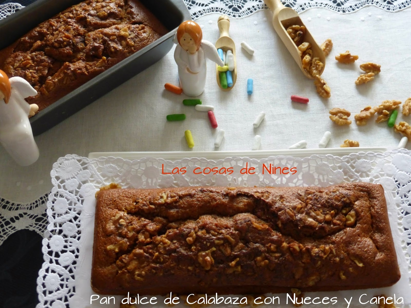 PAN DE CALABAZA, CON NUECES Y CANELA     ( Pumpkin Bread with Cinnamon and Nuts)