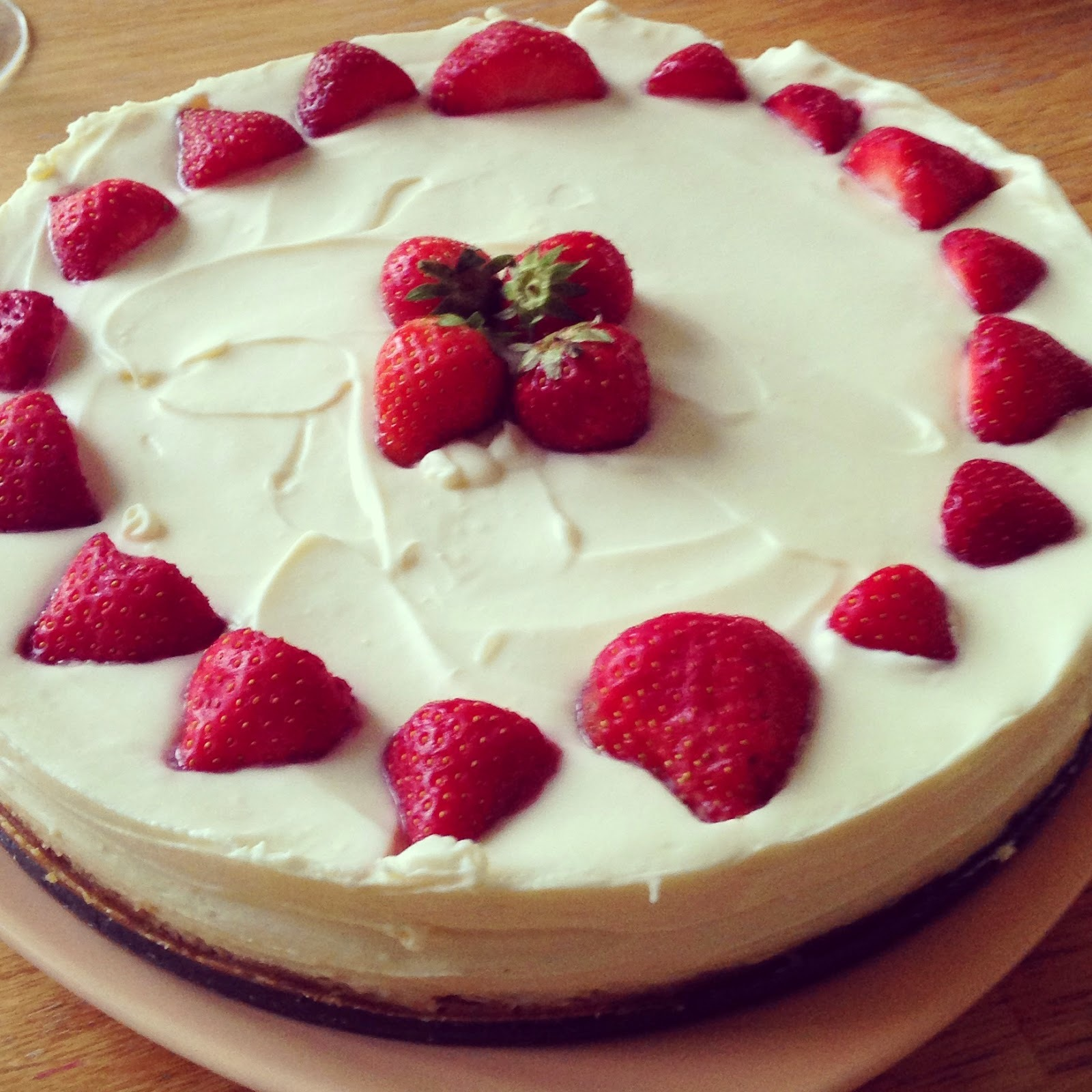 White Chocolate & Strawberry Cheesecake