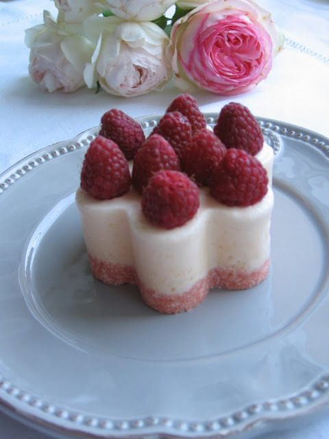Rose & Lychee Mascarpone Cream With Raspberry Entremet