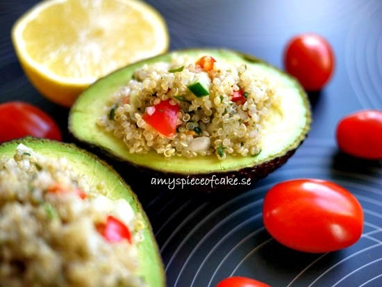 Quinoa Salad Stuffed Avocados