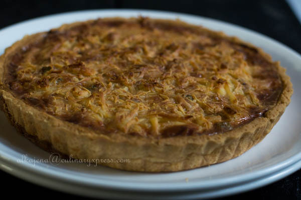 Minced Chicken with Green Peas QUICHE
