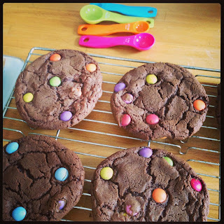 Cocoa-smartie American Style Cookies