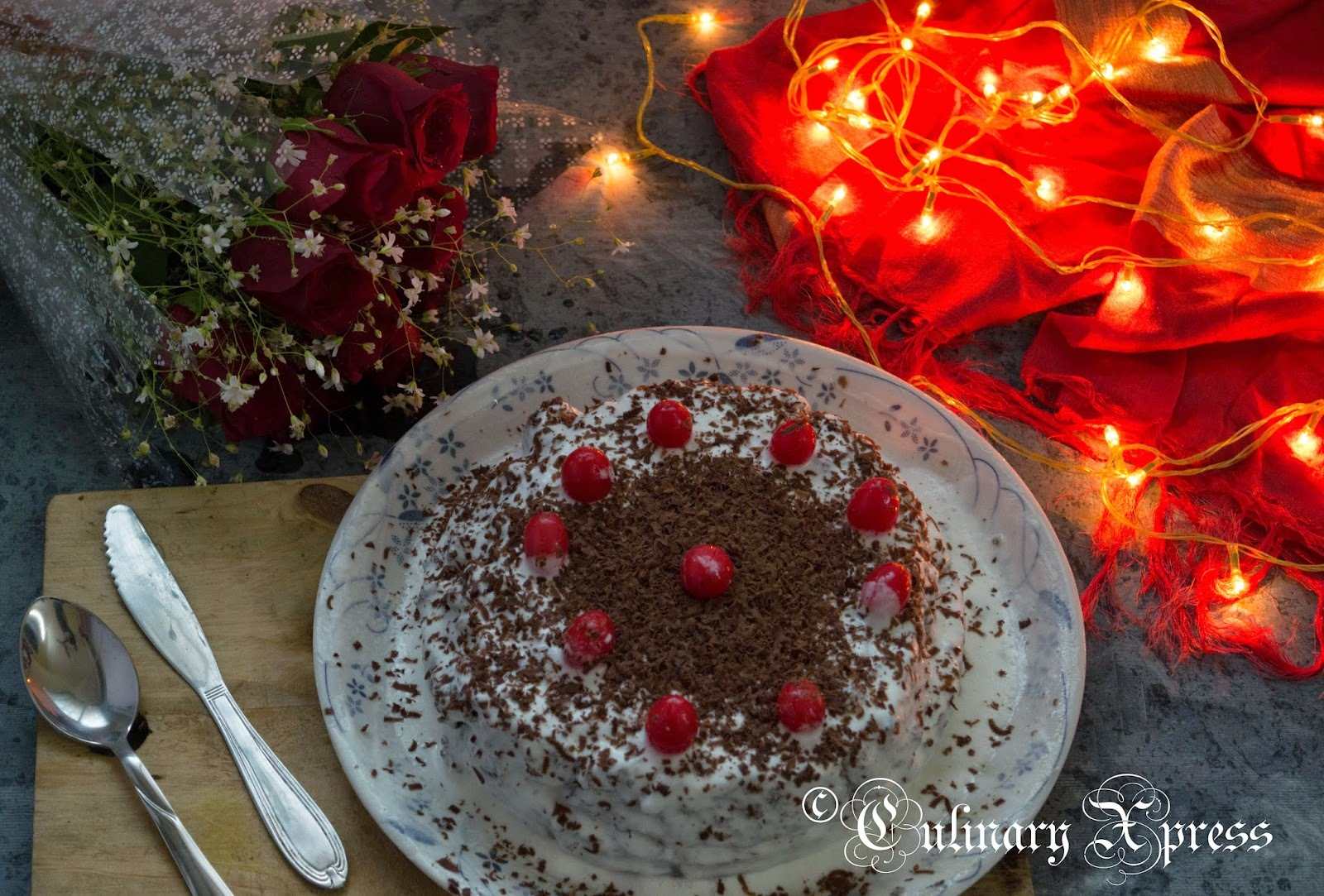 VALENTINE'S DAY  & BLACK FOREST CAKE