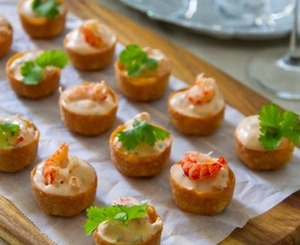 Canape spoons recipes mytaste for How to make canape cases