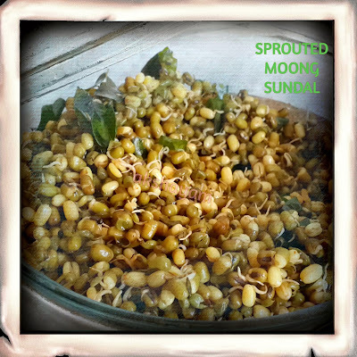 Sprouted Moong Sundal