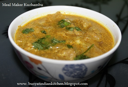 meal maker gravy for chapathi