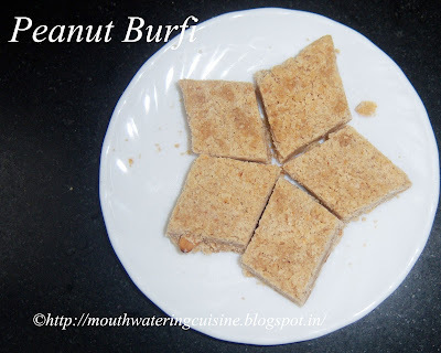 Peanut Burfi Recipe -- How to make Peanut Burfi Recipe