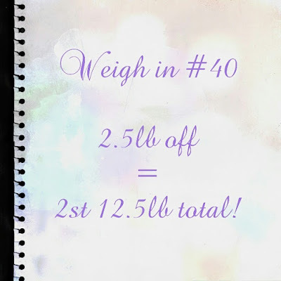 Slimming World weigh in #40 - the one where I'm back in the game...