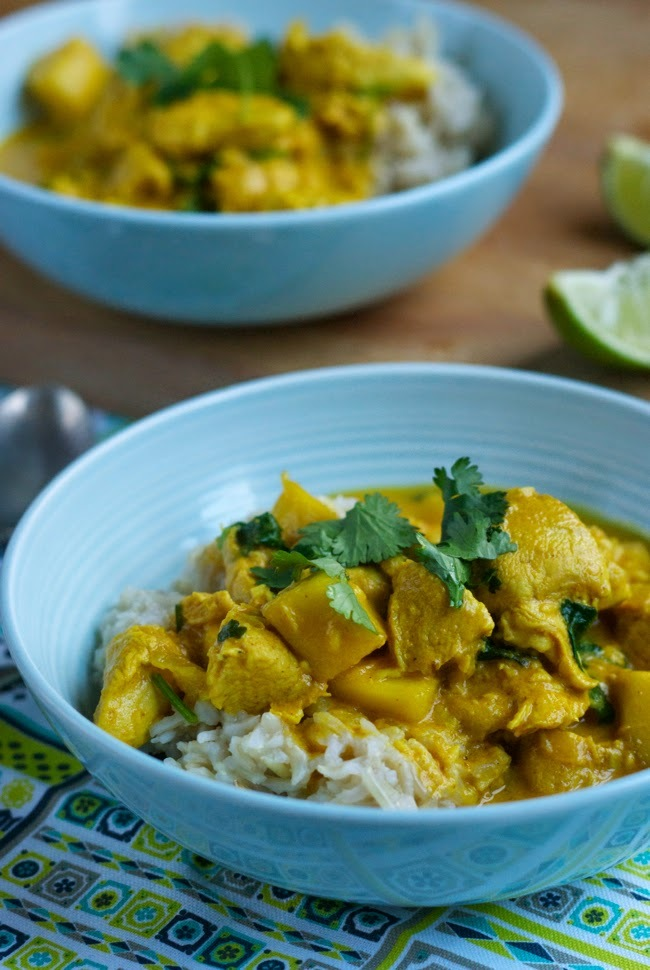 Chicken, coconut and mango curry