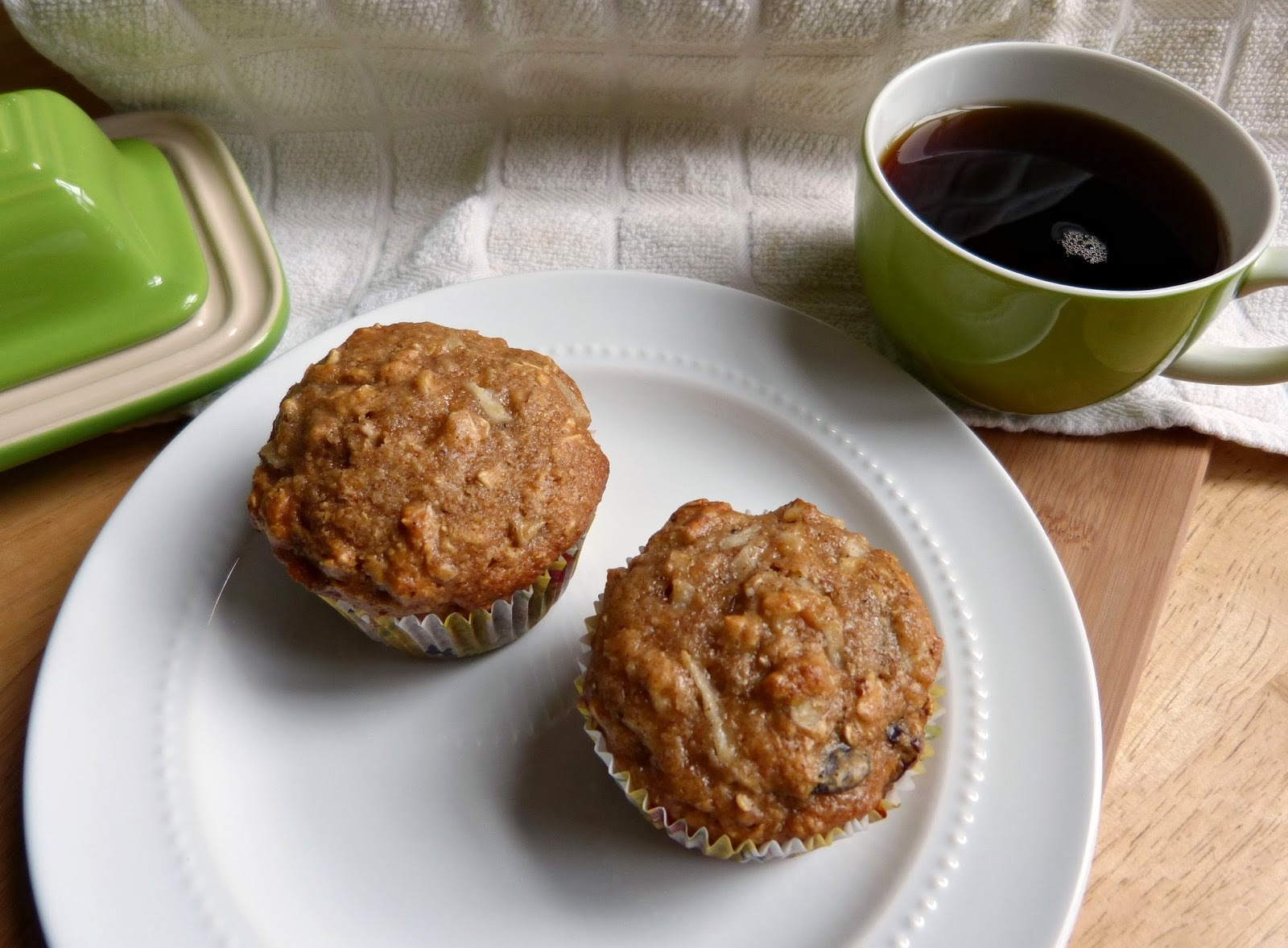 Weekend Baking: Whole Grain Pear Pecan Breakfast Muffins