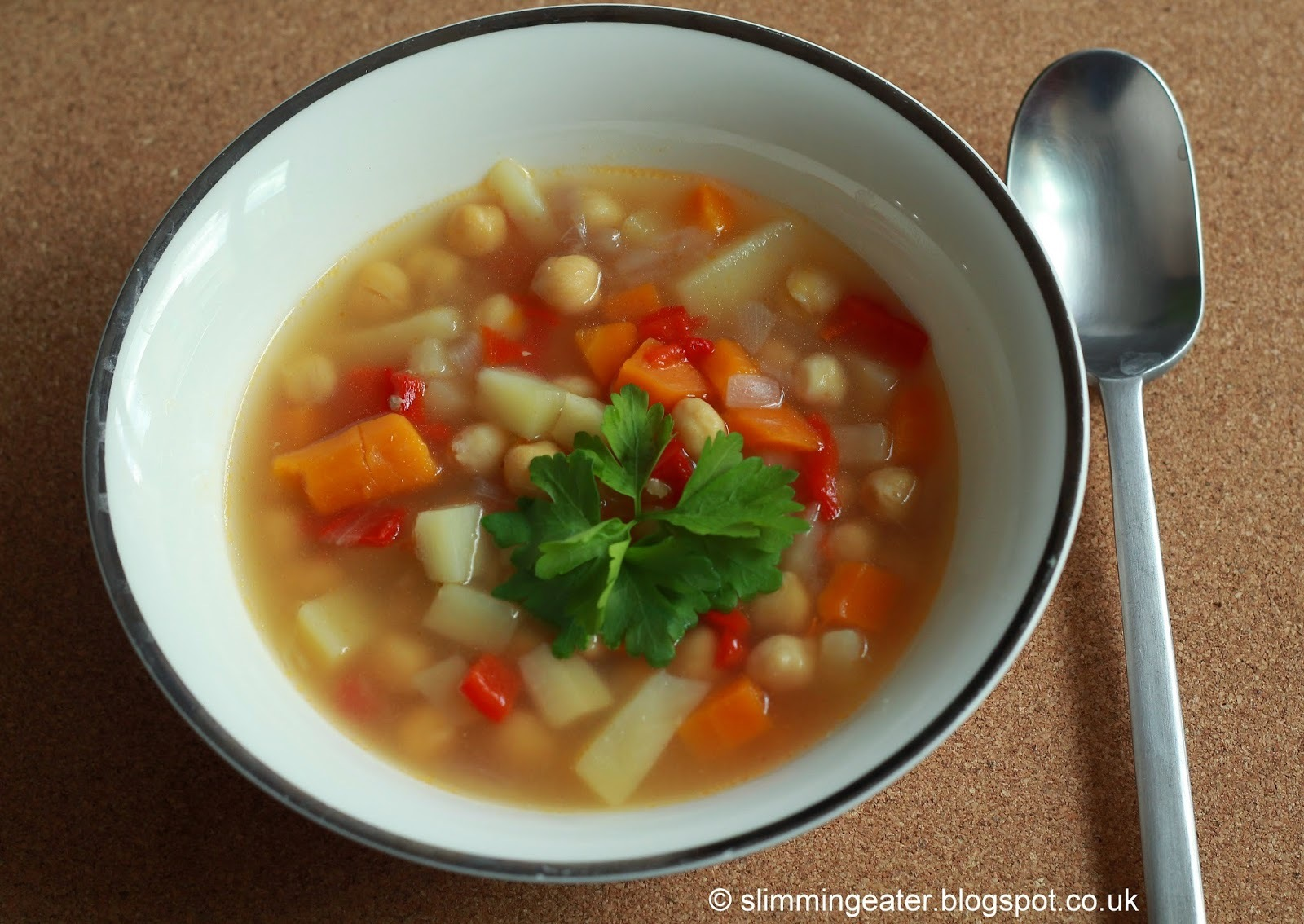 Vegetable and chickpea soup