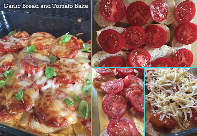 Garlic Bread and Tomato Bake