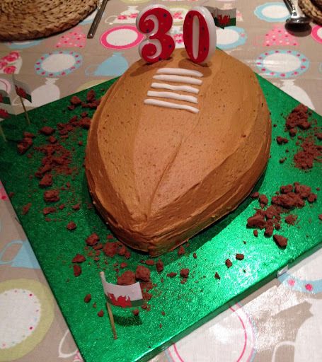 A Rugby Ball Cake and Birthday Celebrations