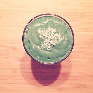 Romige avocado banaan smoothie