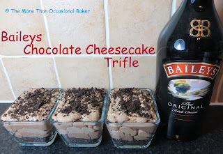 Baileys Chocolate Cheesecake Trifles