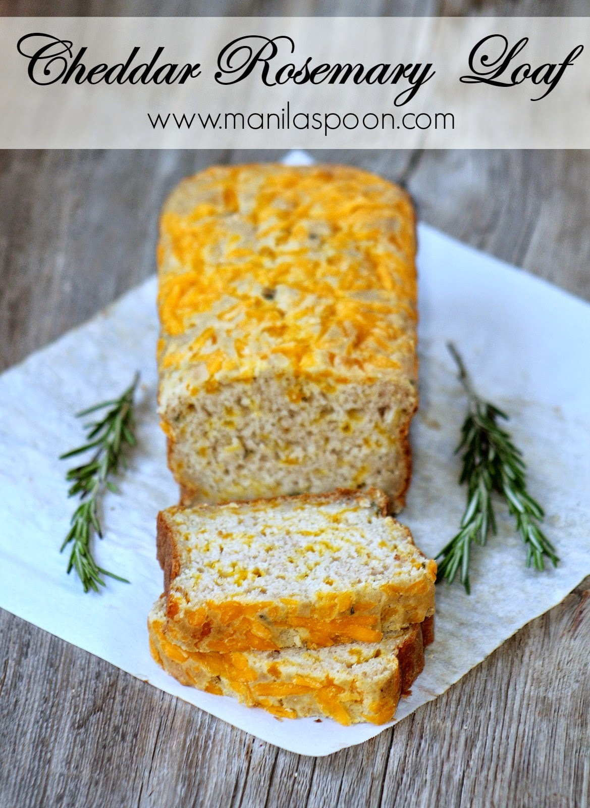Cheddar Rosemary and Applesauce Loaf