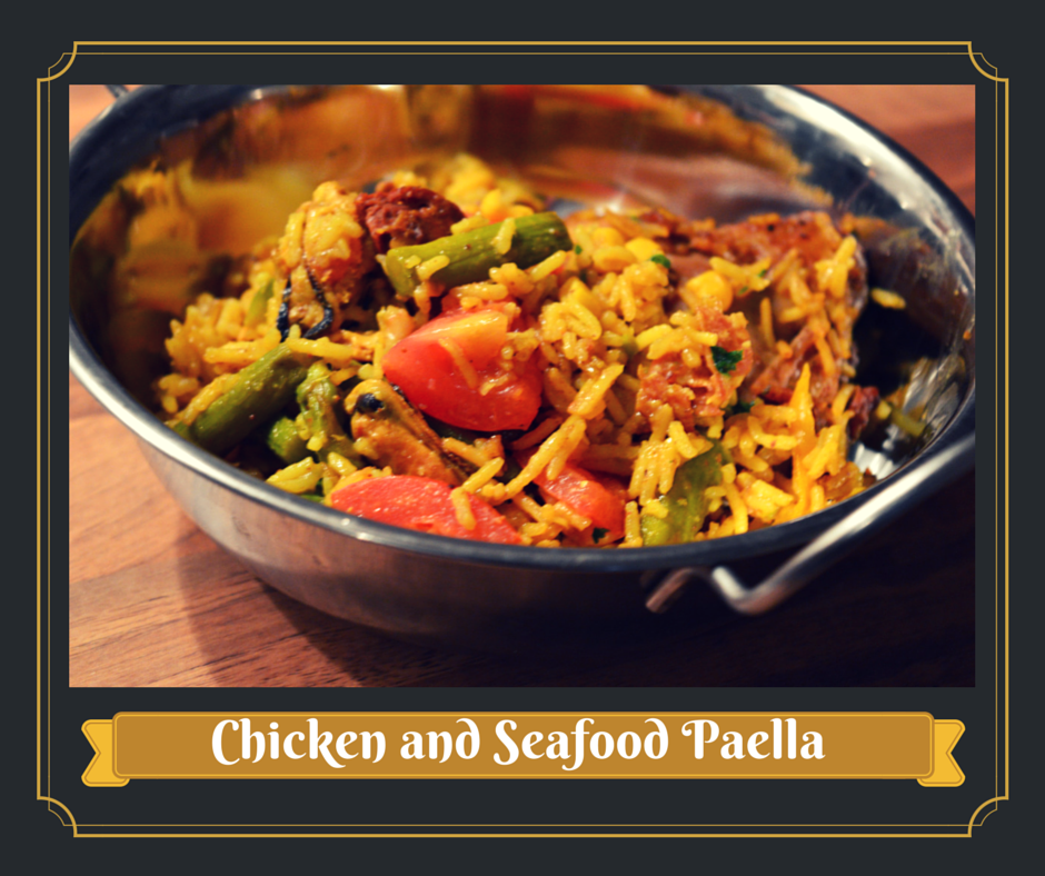 Paella de Frango e Marisco // Chicken and Seafood Paella