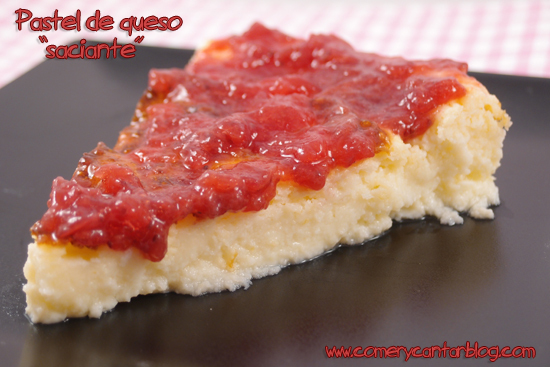 "Pastel de queso ""saciante"" (para entulinea de Weight Watchers)"