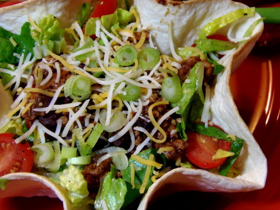 Lightened Up Taco Salad for #SundaySupper