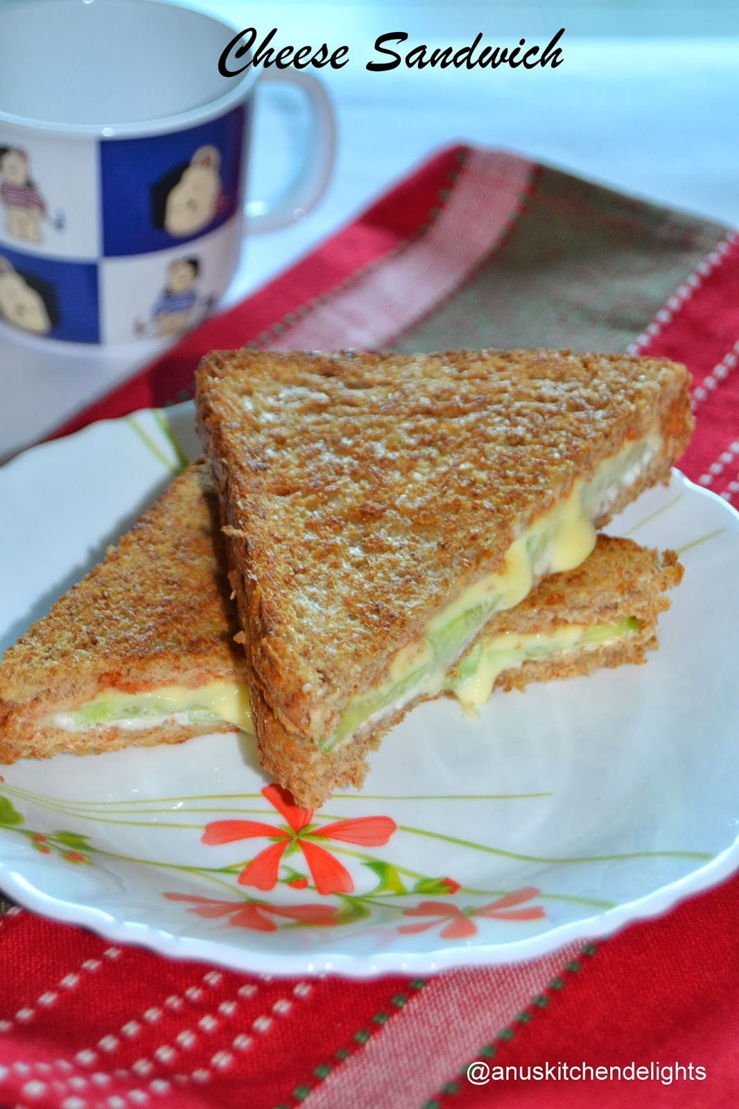 Cheese Sandwich / Grilled Cheese Sandwich with vegetables