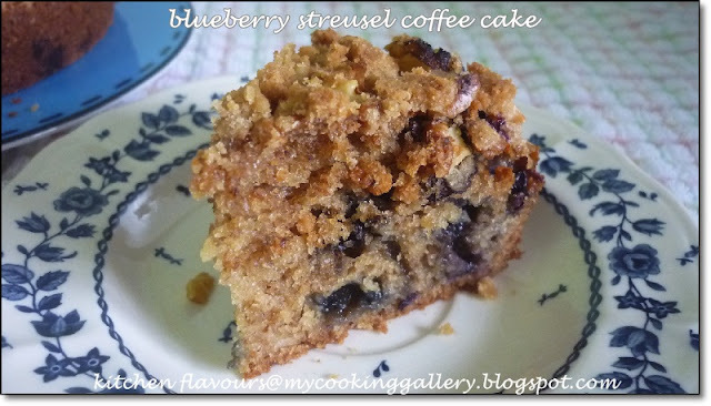 THB : Blueberry Streusel Coffee Cake