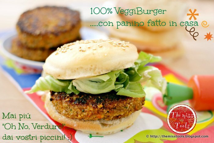 Veggieburger di farro e carote con panini fatti in casa - Spelt and carrots veggieburgers with home-made burger buns