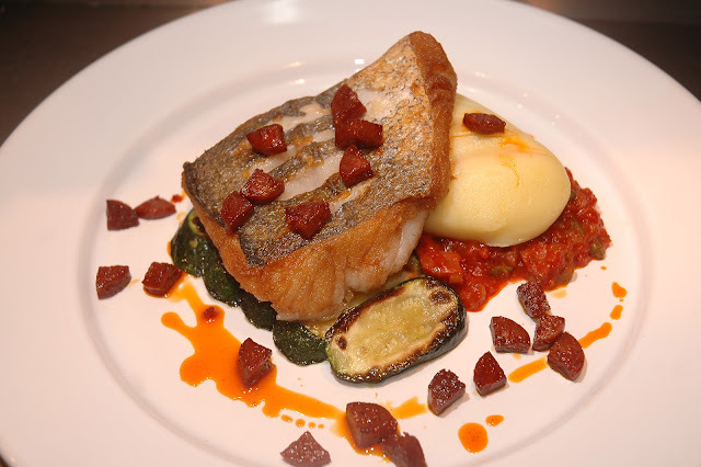 Pan Fried Hake, Olive Oil Mash, Puttanesca Sauce