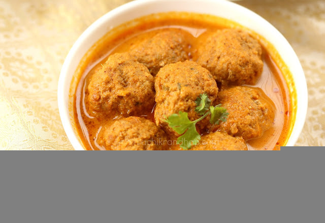 Mangalorean Meat Ball Curry (With Coconut)