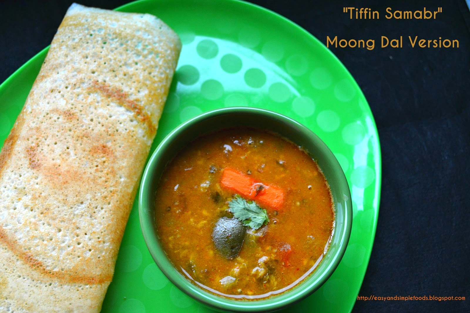 Tiffin Sambar (Using Moong Dal)